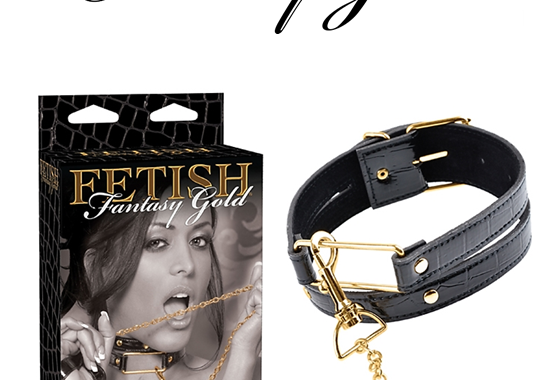 COLLAR & LEASH – FETISH FANTASY SERIES – FETISH FANTASY GOLD