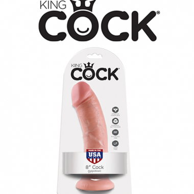 KING COCK DILDO – 8 POUCES – PIPEDREAM