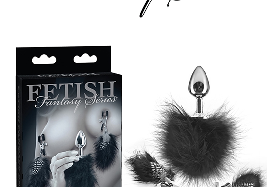 FEATHER NIPPLE CLAMPS & ANAL PLUG – FETISH FANTASY SERIES