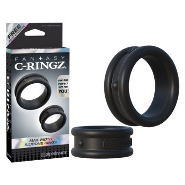 MAX WIDTH SILICONE RINGS NOIR – C-RINGZ